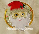 Applique Santa embroidery file HL1035 Christmas Holiday Saint Nick