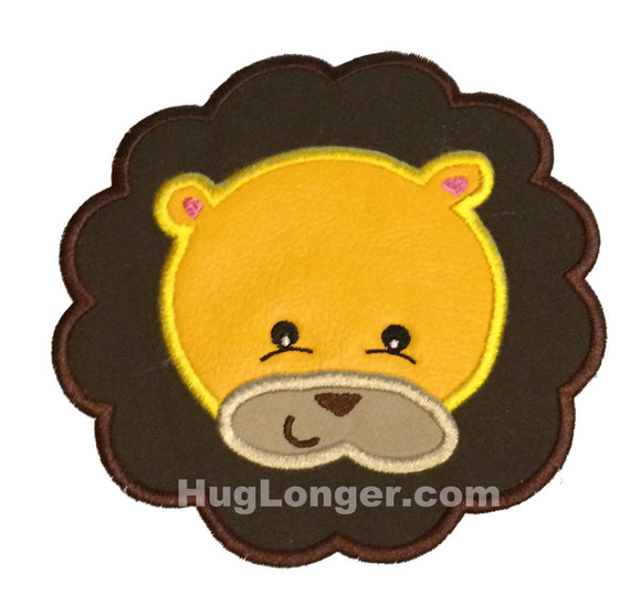 Applique Lion Face embroidery file HL1071 zoo safari jungle