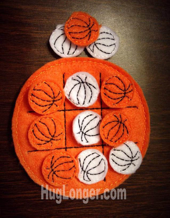 ITH Basketball Tic Tac Toe HL1049 embroidery file sports ball