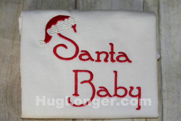 Santa Baby embroidery file HL1088 Christmas Baby First Holiday