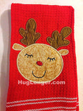 Appliqué Baby Deer embroidery file HL 1051 Christmas Holiday