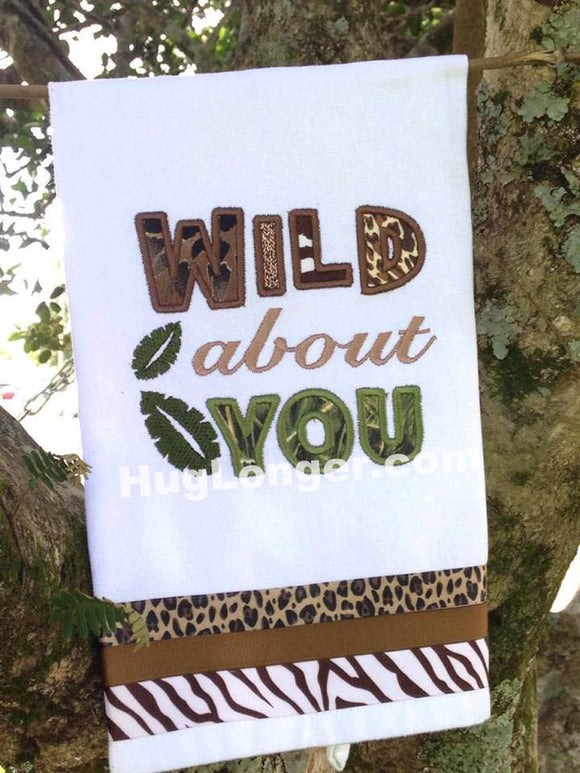 Applique Wild About You embroidery file HL 1057