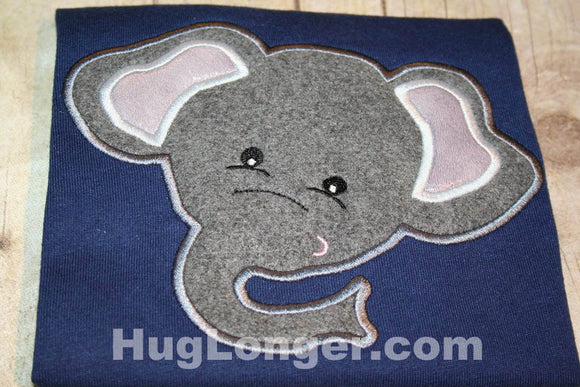 Applique Elephant embroidery file HL1066 animal, zoo, safari