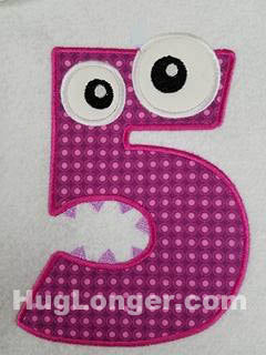 Applique Monster Five embroidery file HL1084