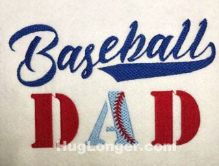 Baseball Dad HL2016 embroidery file ball dad father's day