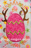 Applique Egg with Antlers HL2018 embroidery file