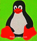 Applique Tux Penguin HL2035 embroidery file Linux logo