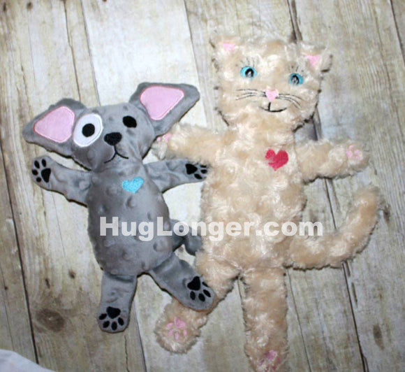 ITH Dog and Cat (Henry and Twigs) HL2056 embroidery files