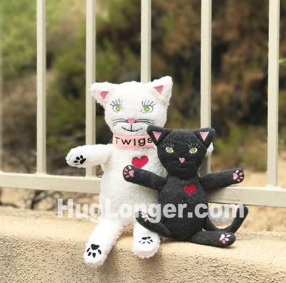 ITH Cat (Twigs) Stuffie HL2054 embroidery file