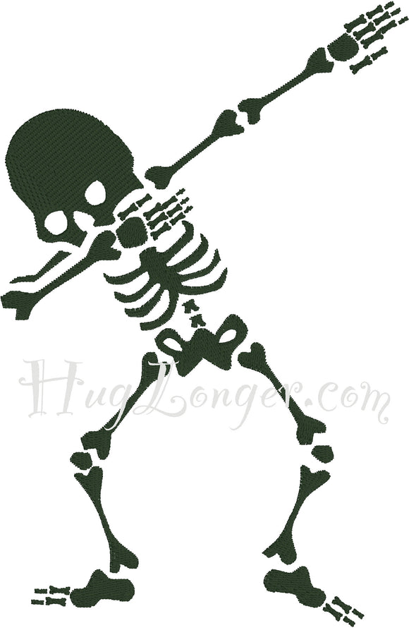 Embroidered Dabbing Skeletons HL2088 embroidery file