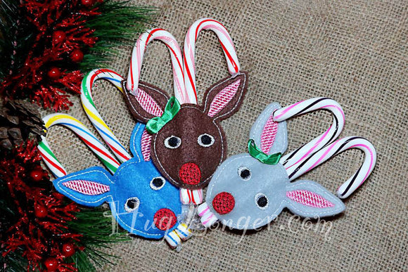 ITH Candy Cane Holder Deer HL2093 embroidery file