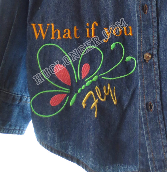 Embroidered Butterfly HL2076 embroidery file What if you fly