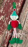 ITH Candy Cane Elf HL2096 embroidery file