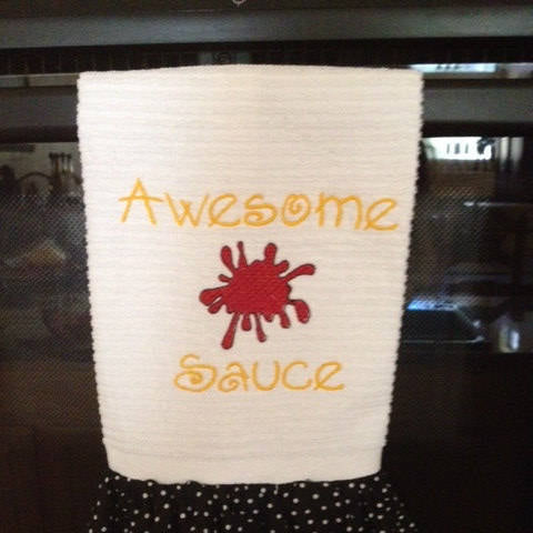 Digital Embroidery File Awesome Sauce