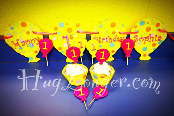 ITH Balloon Party Set HL2078 embroidery files