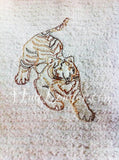Red Work Tiger HL2080 embroidery file