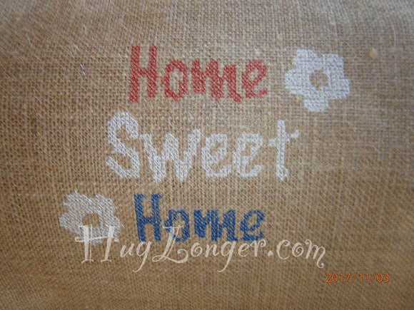 Home Sweet Home HL2095 embroidery file Cross stitch look.