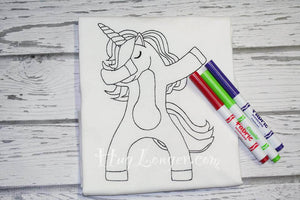 Embroidered Line Art Unicorn HL2145 embroidery file