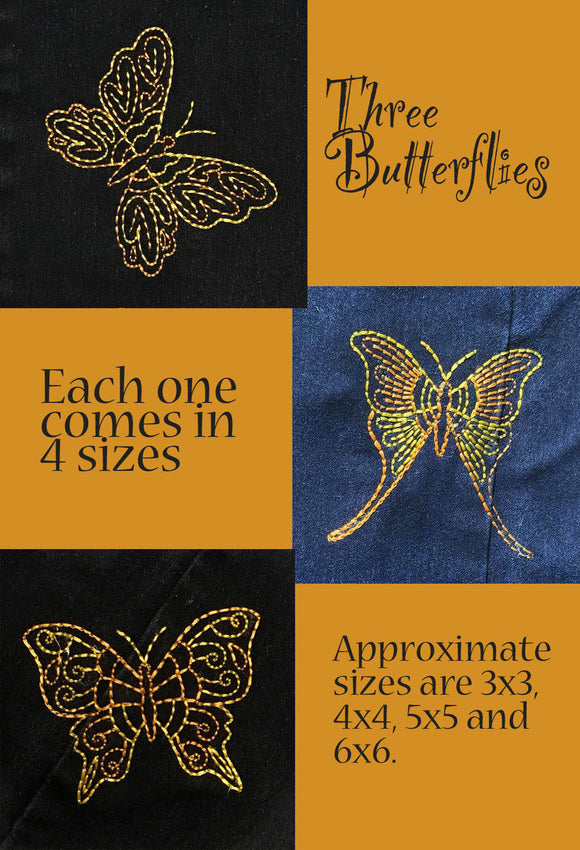 Bean Stitch Butterfly Set HL2161 embroidery file