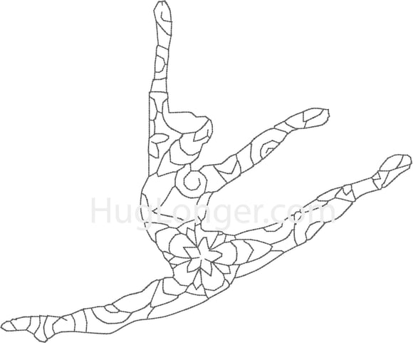 Bean Stitch Dancer HL2168 embroidery file