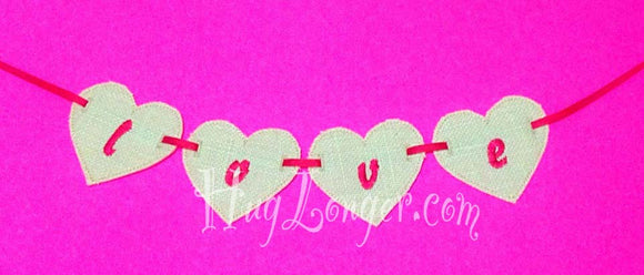 ITH Heart Banner piece HL2133 embroidery file