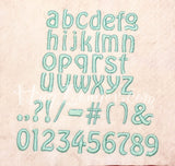 Hobo 1 inch font HL2144 embroidery file