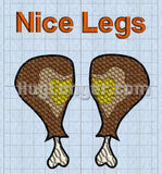Embroidery Thanksgiving Turkey Legs Nice Legs Digital Files