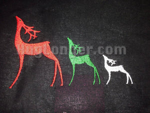 Christmas Deer Filled Embroidery Digital Files