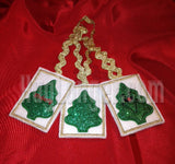 In the Hoop Christmas Tree Gift card Holder  Applique tree front Digital files giftcard
