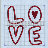 Love Applique Digital Files for embroidery machines  Valentines Day Applique