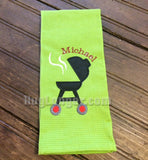 Grill applique embroidery files Great for Father's Day!