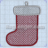 Free Standing Lace In The Hoop Stocking Digital Design File for embroidery machines