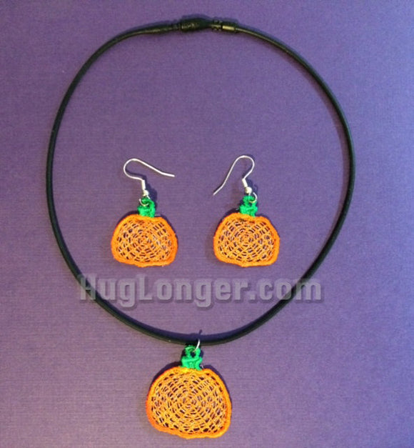 Free Standing Lace In The Hoop Pumpkin Jewelry digital files for embroidery machines