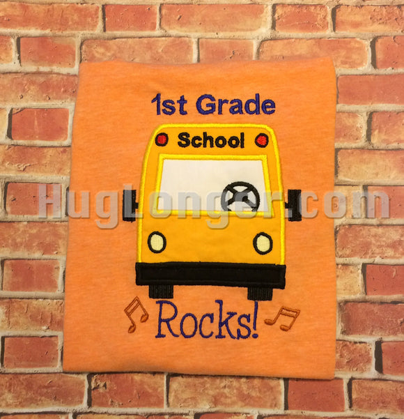 School Bus Applique