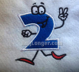 Silly Number Two Applique digital file