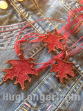 Free Standing Lace Leaf Jewelry