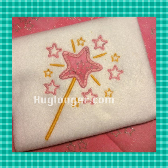 Princess Wand Applique digital embroidery file