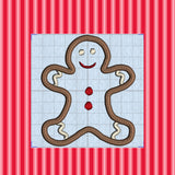 Gingerbread Man Applique embroidery file