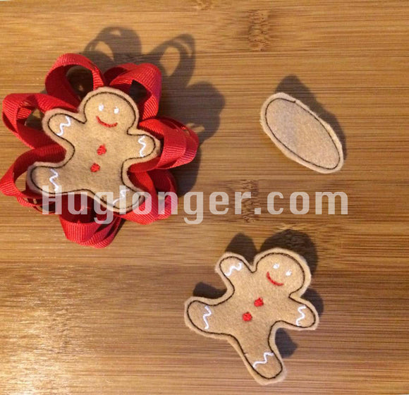In The Hoop Gingerbread Man Felties embroidery files