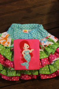 Mermaid Applique embroidery file