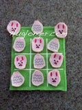 ITH Easter Tic Tac Toe game embroidery file
