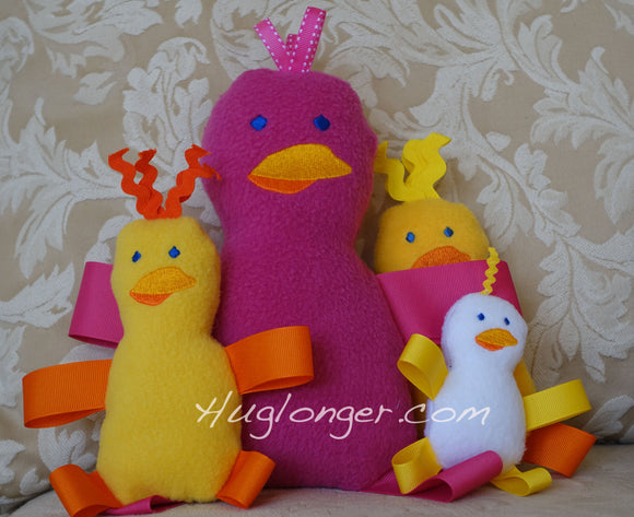 ITH Spring Chicks Stuffie embroidery file