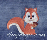 Filled Squirrel embroidery file
