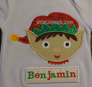 Applique Elf embroidery pattern