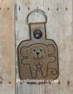 In The Hoop Monkey Key Fob embroidery pattern