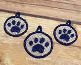 Free Standing Lace Paw Jewelry embroidery file