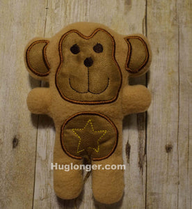 ITH Monkey Stuffie embroidery file