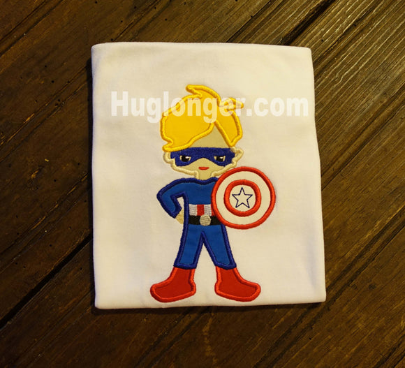 Applique American Hero embroidery file
