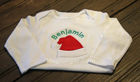 Santa Hat Digital Embroidery File Applique Christmas Holiday
