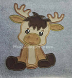 Applique Baby Moose embroidery file